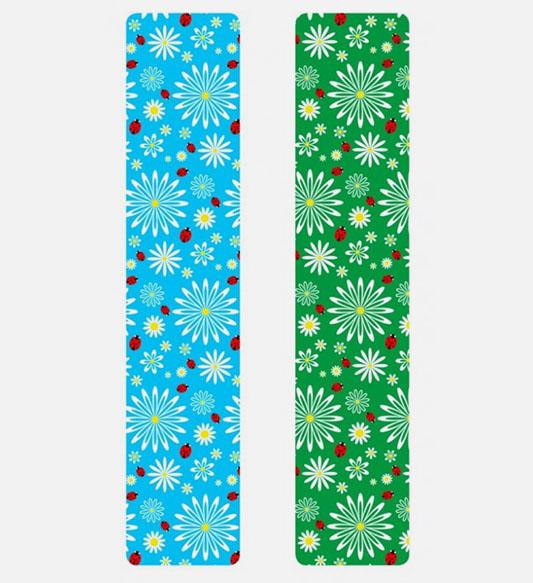 Кинезио тейп BBTape™ 5см × 5м божьи коровки голубой