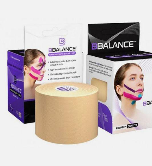 Тейп для лица BB FACE TAPE™ 5 см × 5 м хлопок бежевый